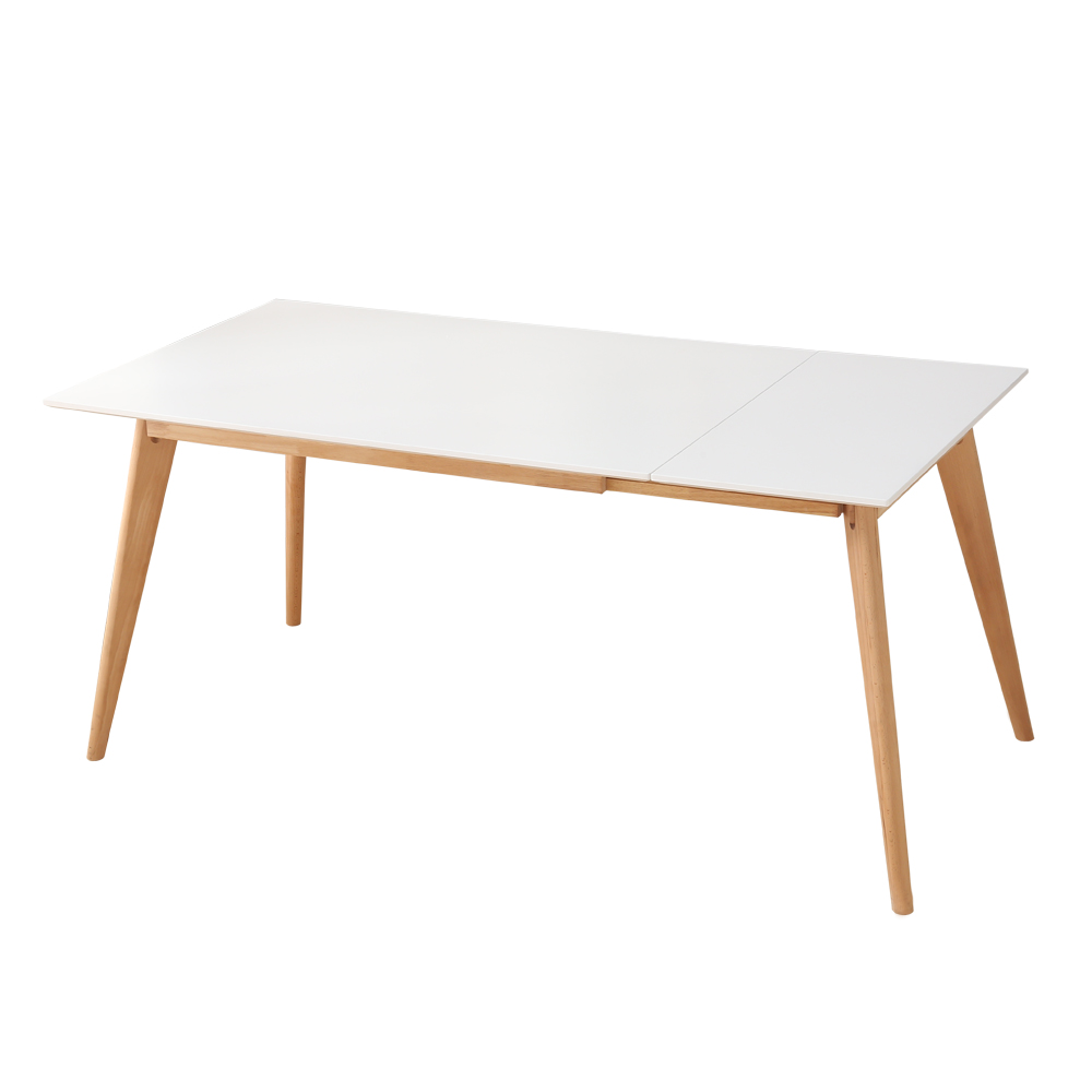Table manger style scandinave bois extensible 120 160cm for Table a manger 8 personnes