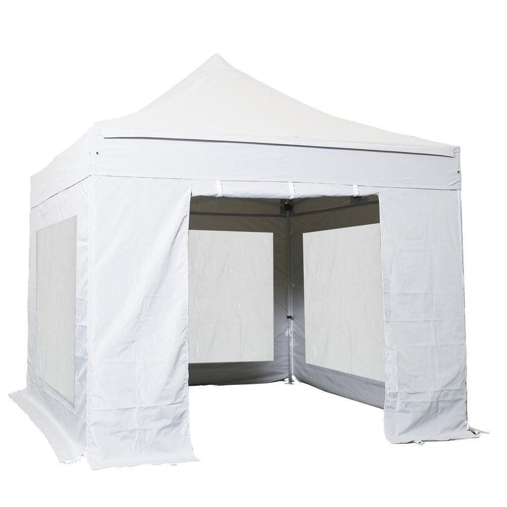 komplettset panoramafenster faltpavillon 3x3 m alu 40 polyester wasserdicht. Black Bedroom Furniture Sets. Home Design Ideas