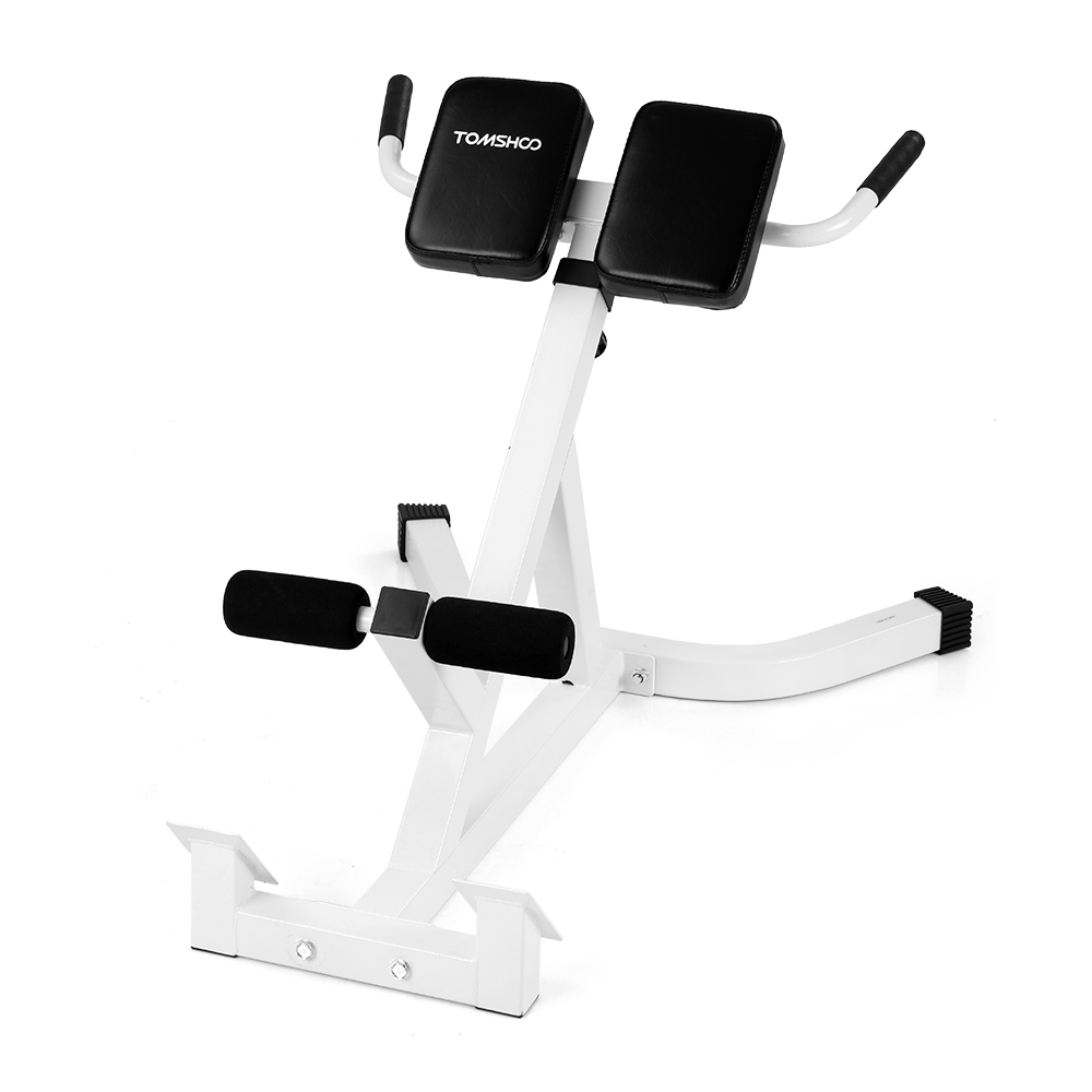 Tomshoo TOMSHOO Adjustable Hyperextension Roman Chair Abdominal Back  Extension Exercise AB Bench Home Gym Fitness