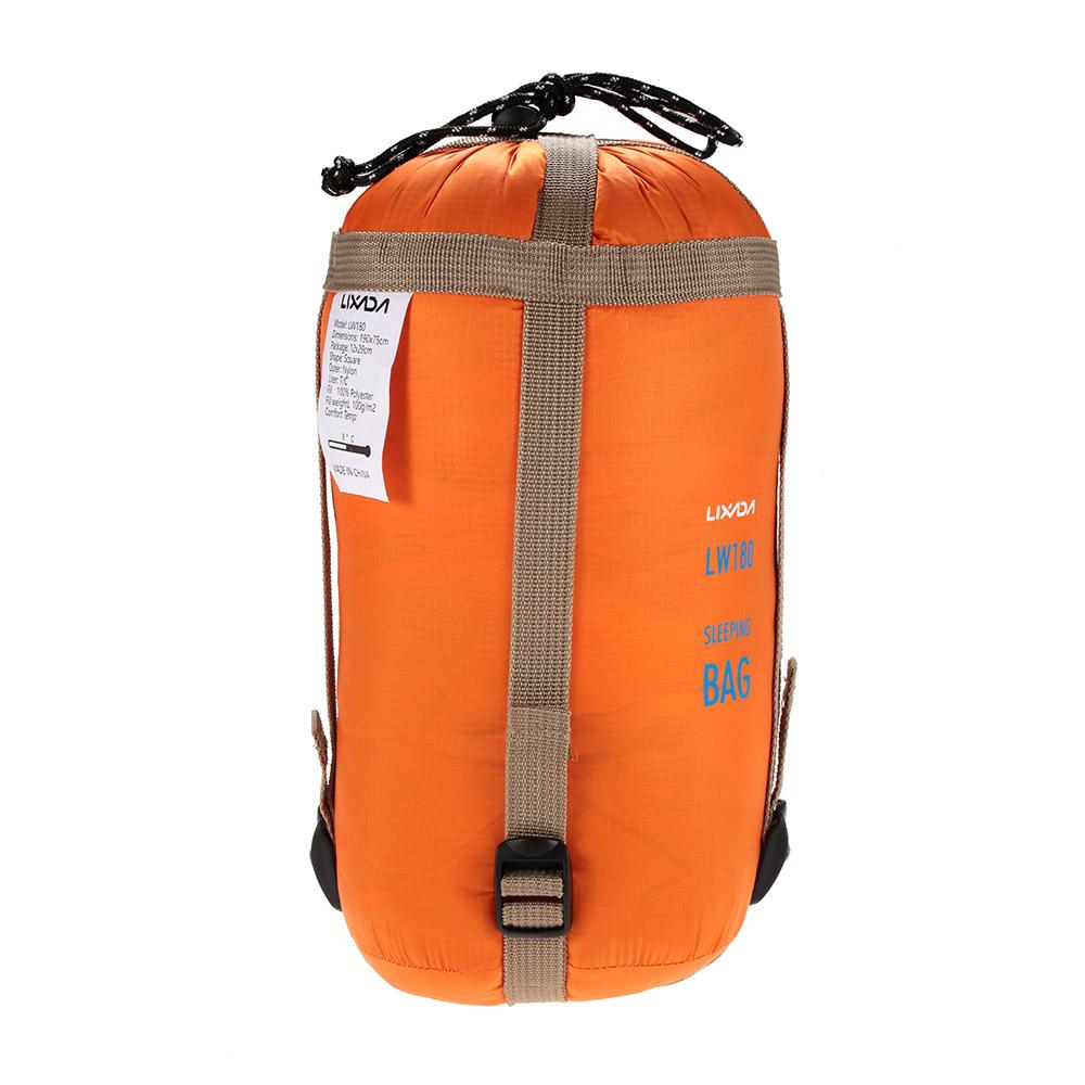 54259179874e Lixada 190   75cm Outdoor Envelope Sleeping Bag Camping Travel ...