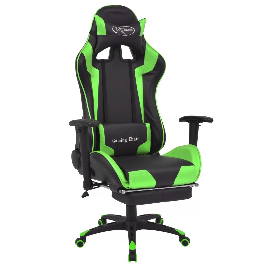 Conception innovante ca4da 58374 Dès 199.99€, Fauteuil gamer avec repose-pied noir et vert -  Interougehome.com