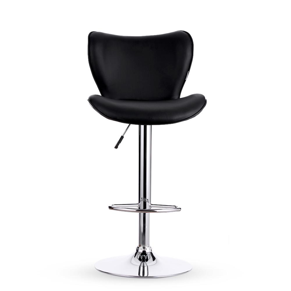 ikayaa lot de 2 tabourets de bar en cuir pu noir hauteur. Black Bedroom Furniture Sets. Home Design Ideas