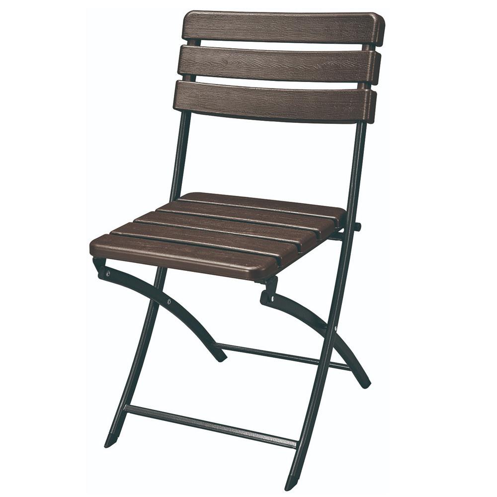 Chaise pliante de jardin effet bois Lot de 2