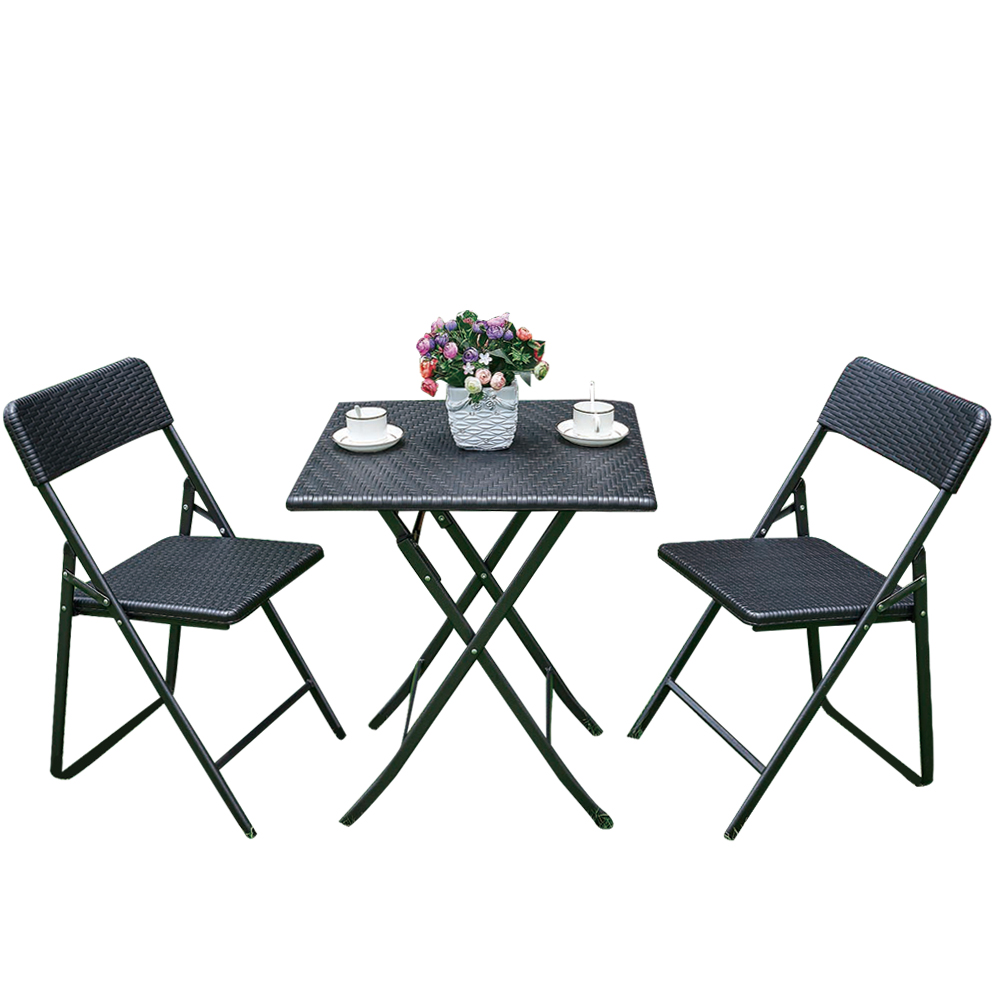 Ensemble table et chaises pliantes ikayaa style r sine for Ensemble table et chaise but