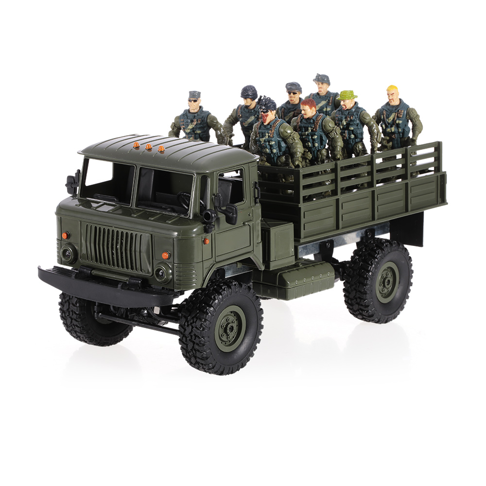 wpl b 24 1 16 2 4ghz militaire camion rc v hicule hors route v hicule lectrique avec lumi re. Black Bedroom Furniture Sets. Home Design Ideas
