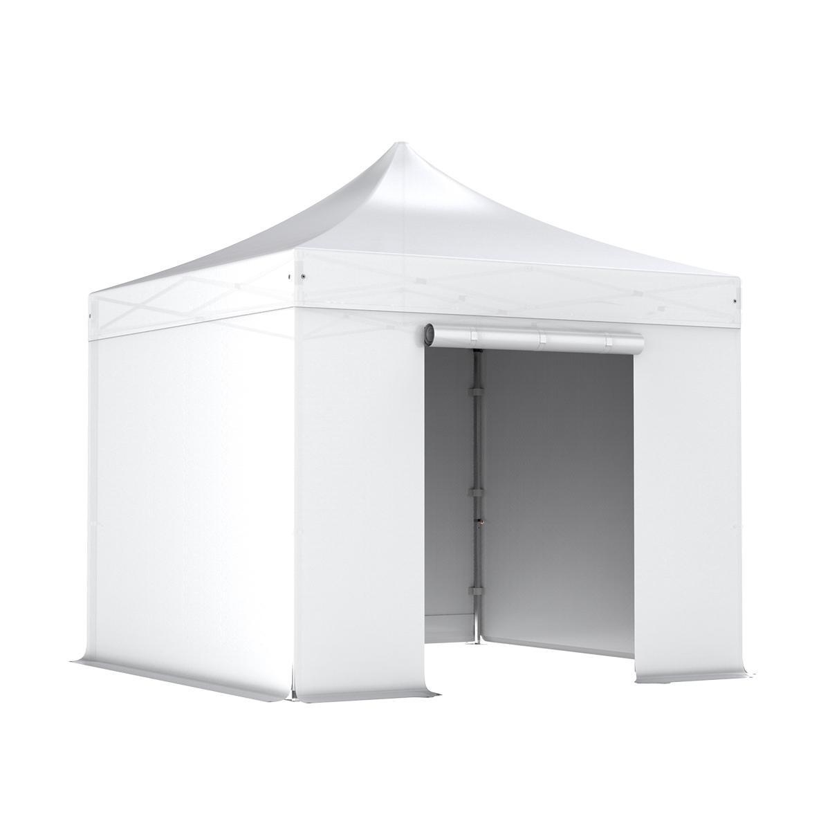 alu 40 faltpavillon 3x3m mit 4 seitenw nde wasserdichte planen in polyester pvc beschichtet. Black Bedroom Furniture Sets. Home Design Ideas