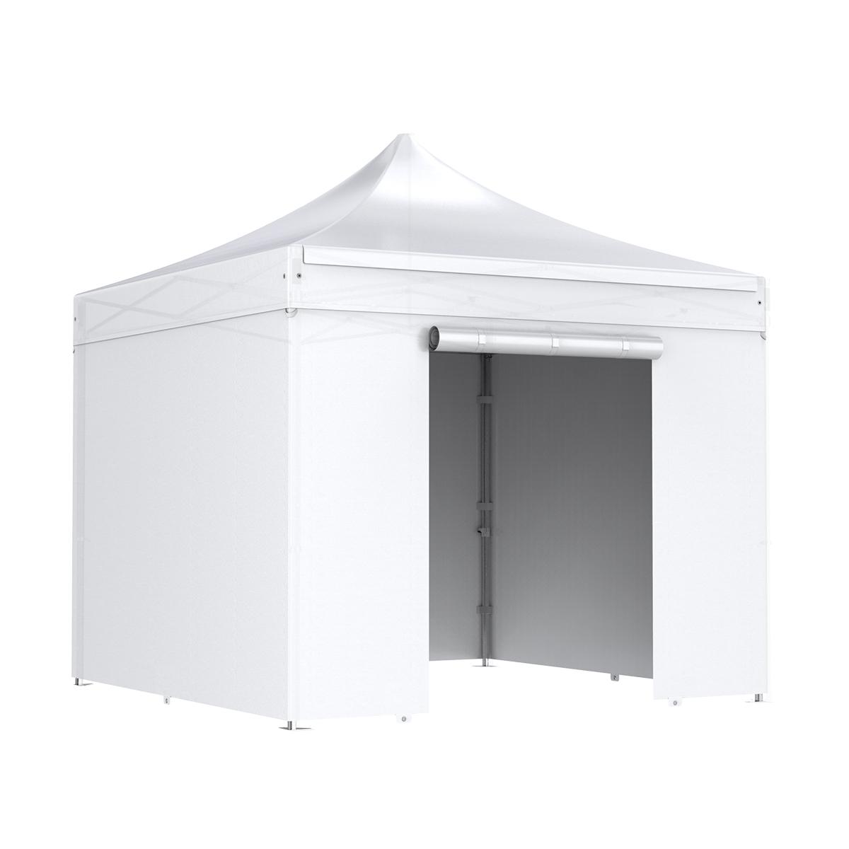 nur wei komplettset premium faltpavillon 3x3m alu 50 pvc520g m feuerfest und. Black Bedroom Furniture Sets. Home Design Ideas