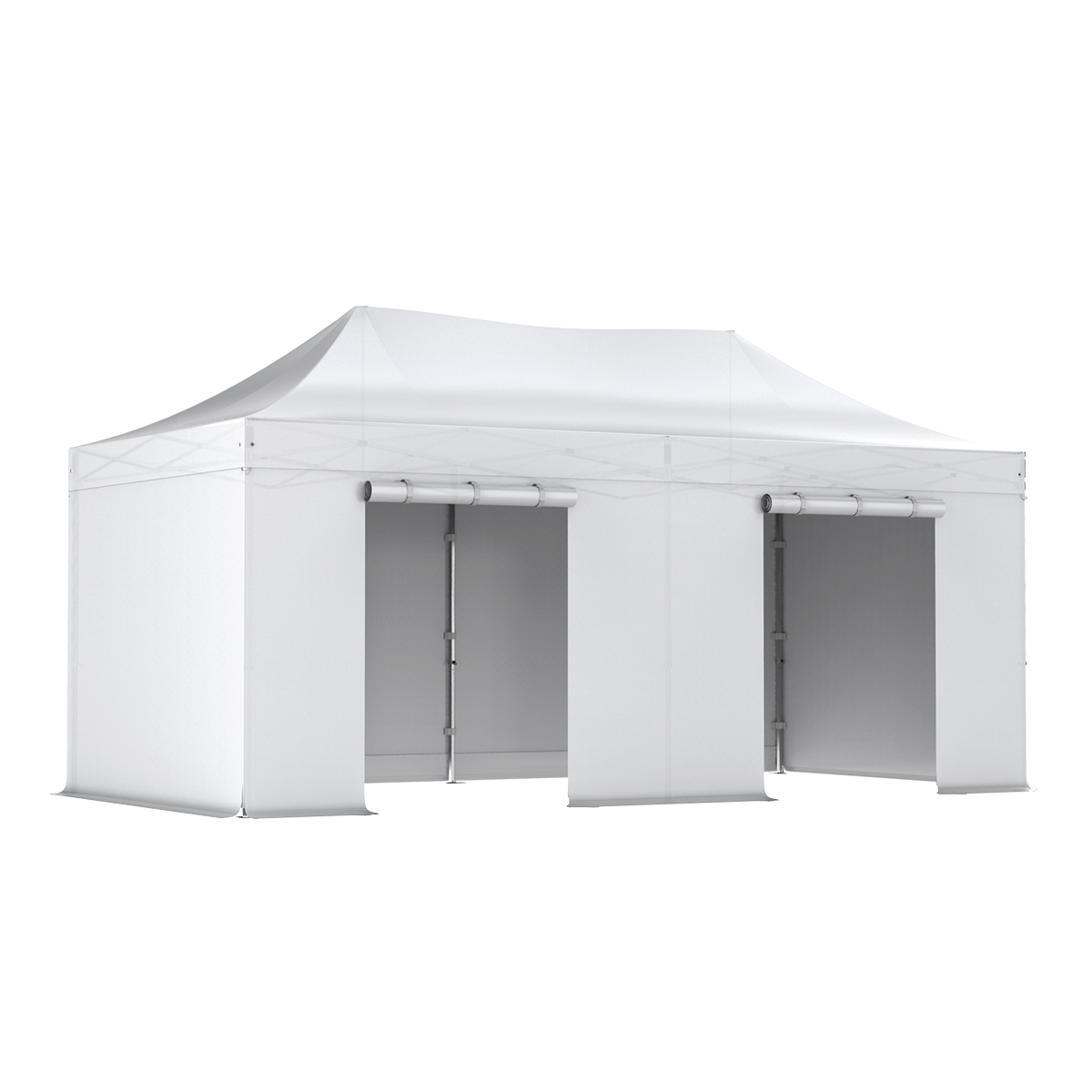 barnum pliant pro 3x6 pack complet blanc alu 50 pvc 520g m. Black Bedroom Furniture Sets. Home Design Ideas