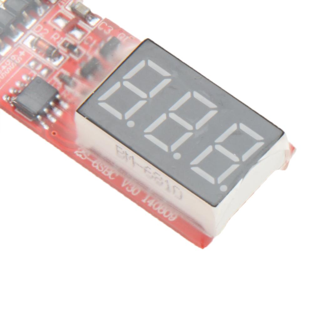 5pcs Lipo Battery Voltage Monitor Meter 74v 111v 148v 222v 2s 6s Cells Led Display For Rc