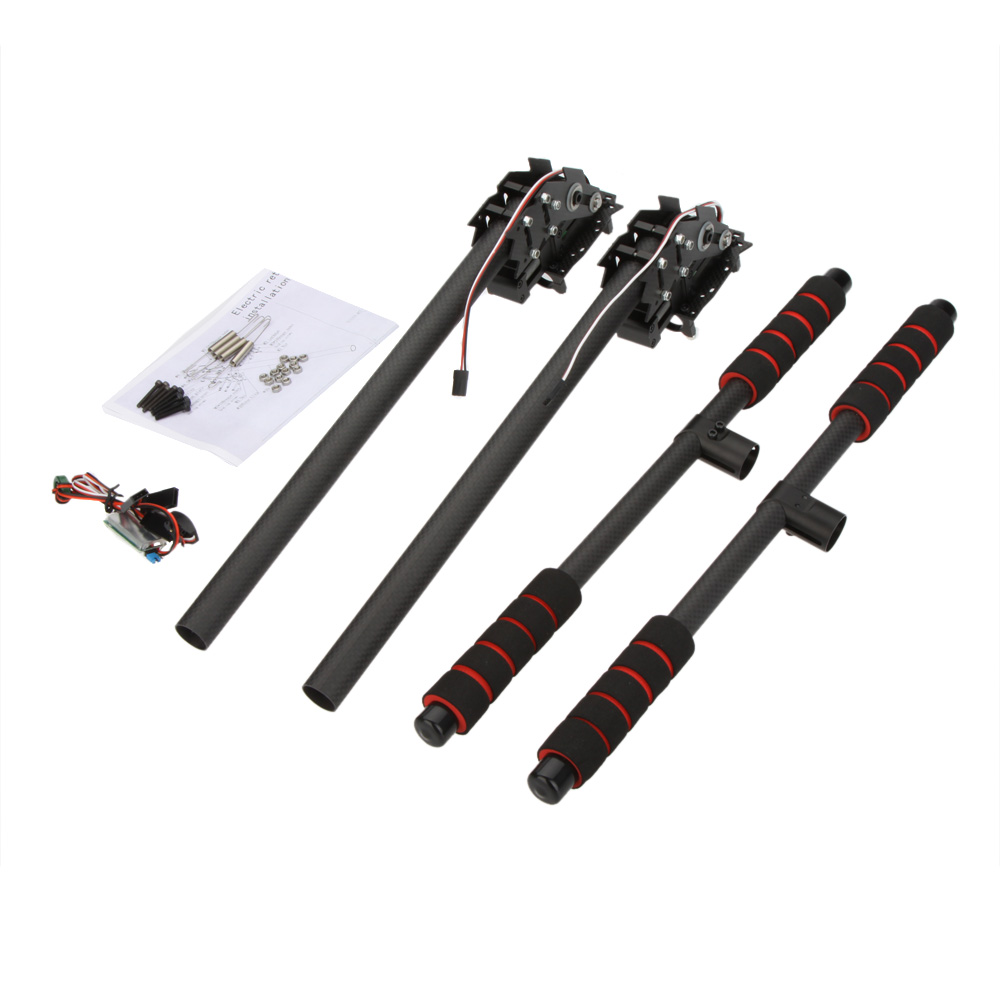 Fibra de carbono de aterrizaje retr ctil skid set para - Abrazaderas para tubos ...