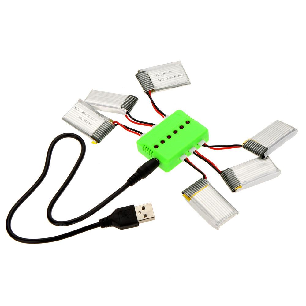 S per mosca sets x 6 cargador con 6pcs 3 7v 300mah bater a - Cargador de baterias ...