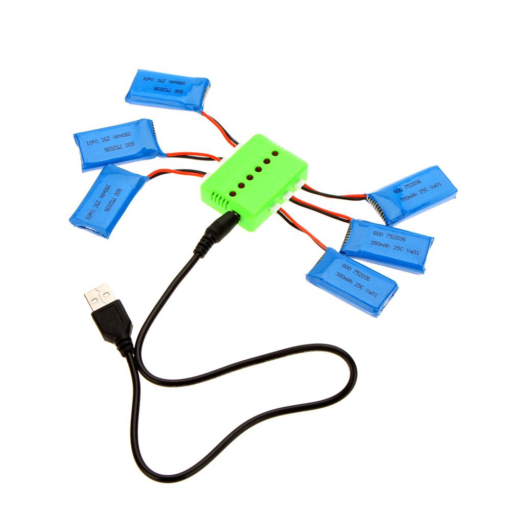 S per mosca sets x 6 cargador con 6pcs 3 7v bater a lipo - Cargador de baterias ...