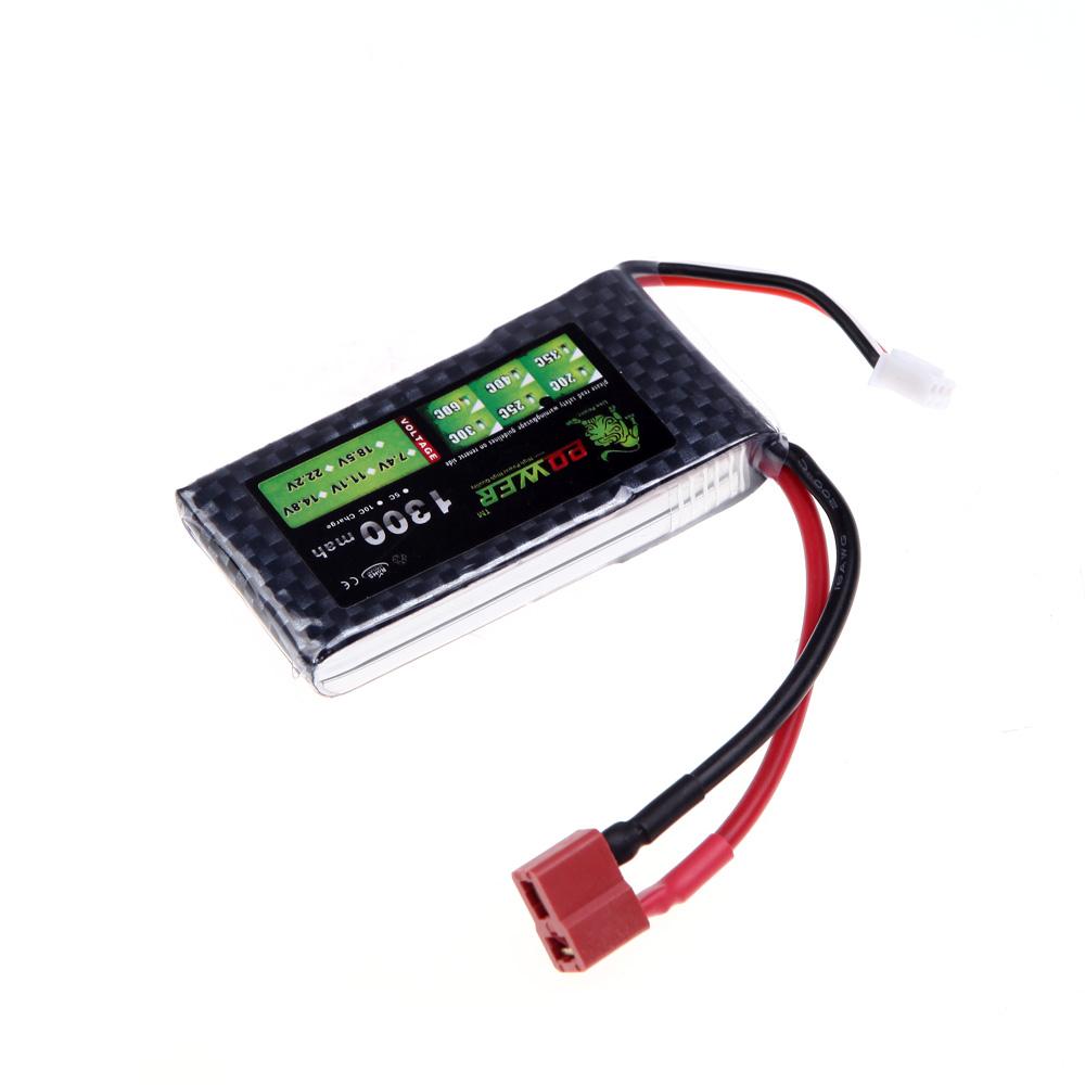 oriainal lion de puissance lipo 7 4v 1300mah 25 c max 40 c t fiche batterie pour voiture rc. Black Bedroom Furniture Sets. Home Design Ideas