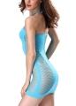 Sexy Women Fishnet See-Through Chemise Dress Halter Strap Teddy Mesh Lingerie Dress
