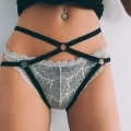 Sexy Women Strappy Cage Panties Open Crotch O-ring Underpants Underwear Lingerie
