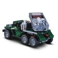 DOUBLE E C61002W 1369 PCS Electric RC model 1/20 Deformable BM-21 Rocket Car