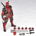 Cartoon PVC Action Figure Change Face Toy Red Doll Deadpool