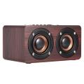 W5 Red Wood Grain Bluetooth Speaker