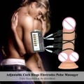 Adjustable Cock Rings Electrodes Pulse Massager Penis Ring Electric Shock Cable Men Medical Sex Toys For Men Masturbation