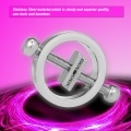 Nipple Clips Female Stainless Steel Adjustable Torture Play Nipple Clamps Breast Bondage Restraint Couple Sex Toy,1 Pair