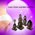 Leten 4 Styles Anal Balls Anal Plug Silica Gel Butt Plug Sex Toys Adult Products for Women and Men