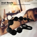 Anal 10 Balls Butt Plug Large Size Black Female Anal Beads Silicone Male Prostate Massager Sex Toys