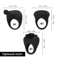 Silicone Cock Ring Vibrator Powerful Sex Toys For Penis Delay Ejaculation Vibrating Men's Penis Ring Adults Product