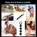 Silicone Anal Butt Plug Unisex Sex 4 Pull Beads Stopper Erotic Anal Ball Men Women Anus Masturbation Sex Toys