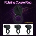 Silicone 3 Modes Cock Ring Vibrator Men Delay Ejaculation Lock Loop Female Clitoris Stimulation Massager Sex Toys for Adult Couple USB Rechargeable