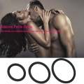 3Pcs Male Cock O-Shape Silicone Penis Ring Impotence Erection Enhancer Prolong Sex Aid Anti Premature Ejaculation Time Delay Cock Lock Sex Toys Products for Men