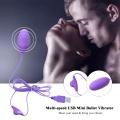 Multi-speed USB Mini Bullet Vibrator Masturbator Adult Product Sex Toys For Men Women Vibrating Egg Clitoris Stimulator
