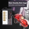 Electric Shock Male Chastity Dick Cage Penis Ring Sex Cock Cage Medical Themed Toys Electric Shock Host