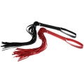 Red BDSM Whip Adult Sex Flogger Handle Tassels Restraint Spanking Whip Sex Toys Leather Cosplay Roleplay Rope