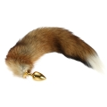 Fake Fox Tail Stainless Steel Butt Anal Plug Glod Sexy Romance Flirt Funny Adult Product Sex Toy