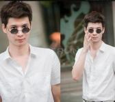 New Unisex Fashion Retro Sunglasses Eyewear Vintage Style Casual Tortoise Frame Lens Round Glasses