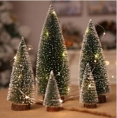 Simulation Mini Christmas Tree Christmas Desktop Decoration Supplies 8cm*20cm
