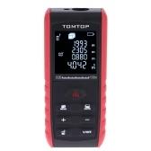 TOMTOP 100m Portable Handheld Digital Laser Distance Meter Range Finder Area Volume Measurement with Angle Indication