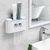 Multifunctional Practical Automatic Toothpaste Dispenser Toothbrush Holder Set & Toothpaste Storage Rack