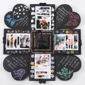 DIY Сюрприз Взрывная коробка подарка с комплектом аксессуаров (Черная карта)