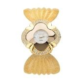 Bracelet de luxe de la mode européenne et américaine montre brillant diamant papillon maille ceinture dames montre à quartz en gros or