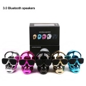 New Electroplating Skull Head Wireless Bluetooth Speaker