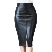 Leather skirt 2021 spring new leather skirt women