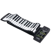 KONIX hand-rolled piano 88 key thickened silicone folding electronic piano with sustain pedal cross-border wholesale