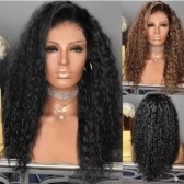 African small curly wig women fashion long curly hair European and American cent long curly hair small wave micro curly hair black