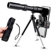 Les fabricants stockent en gros 10-30x25 télescope à zoom monoculaire à fort grossissement télescope portable rétractable haute définition 10-300*40 (sans LOG) standard + clip de caméra + support de trépied