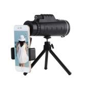 Fábrica al por mayor 40X60 monoculares HD con cámara de teléfono móvil visión nocturna con poca luz con brújula lupa 40X60 telescopio estándar neutral + brújula + soporte universal para cámara de teléfono móvil + trípode simple