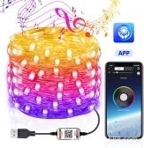 USB Bluetooth Light String Mobile Phone APP Fil de cuivre Light Christmas Decoration Light String