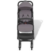 Folding Buggy Gray 89 x 47.5 x 104 cm