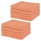 Гостевые полотенца 10 шт. 100% хлопок 360 г / м² 30 х 30 см персик