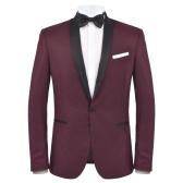 Dwuczęściowy strój wieczorowy Czarny krawat dla mężczyzn 50 Burgundii